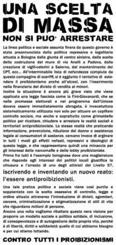 Volantino 11/11/2006 fronte